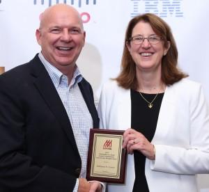 Last year winner - Kay Lemon with Dwayne Gremler, chair of the committee.