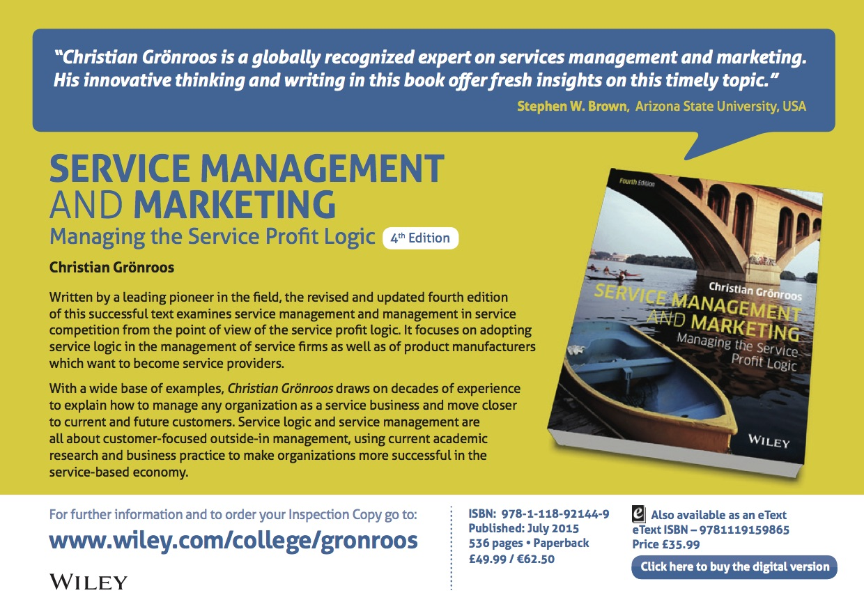 Service Management and Marketing 2015 Flyer