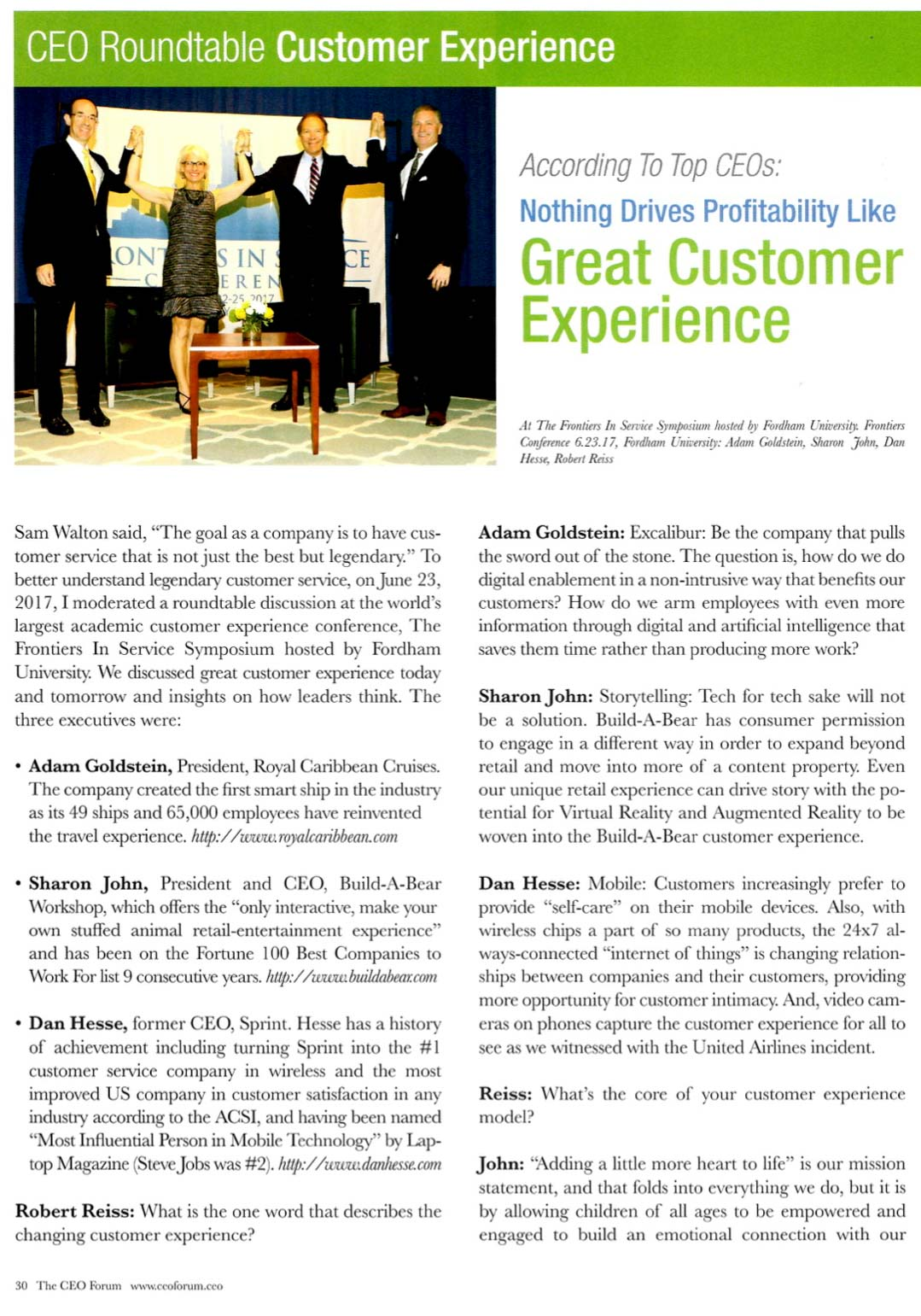 CEOs: Nothing Drives Profitability like Great Customer Experience